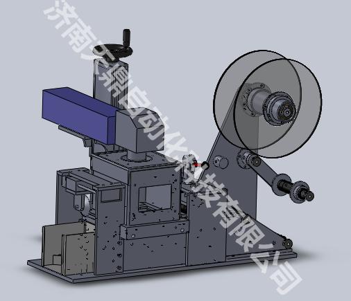 打标切纸自动一体化激光打标机